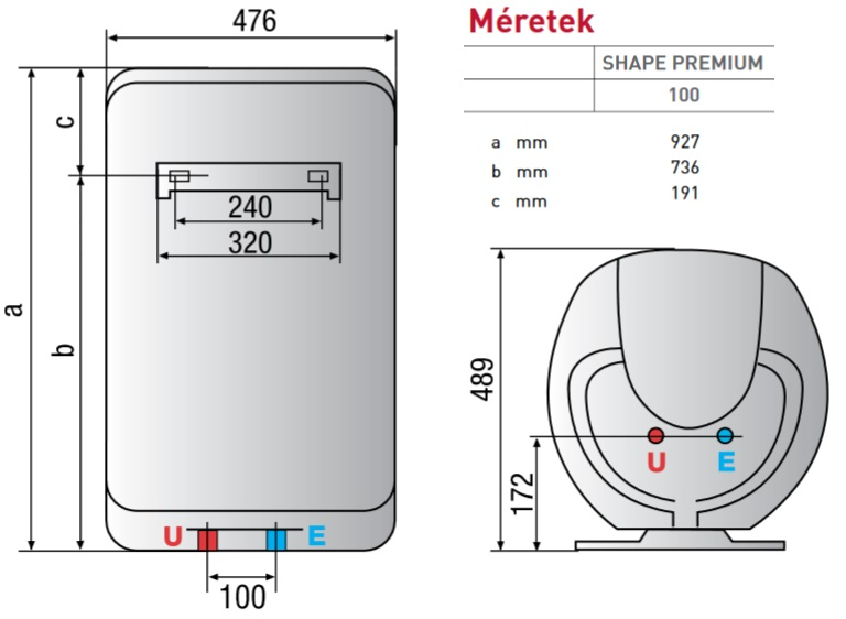 Bojler v zmeleg t ariston shape premium 100 eu for Ariston shape premium 100
